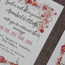 Bespoke Annabel Postcard Wedding Invitation