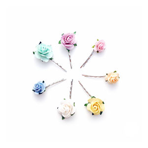 Mixed Floral Bobby Pins