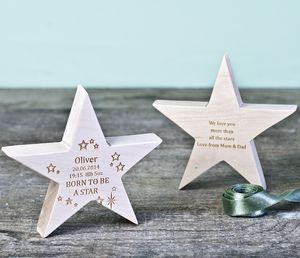 'Born To Be A Star' New Baby Star Keepsake - more