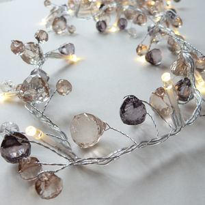 Smokey Crystal Fairy Light Garland - christmas lights