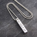 Silver Men's Chunky Personalised Pendant
