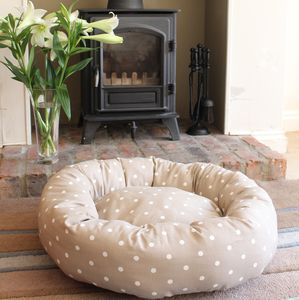 Dotty Cat Donut Bed - cats