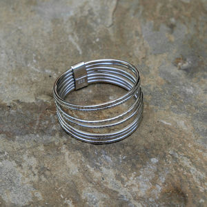 A Silver Stacking Ring Set - rings
