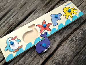 Babies 1st Fun Wooden Peg Puzzles - more