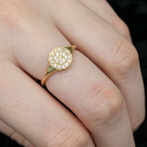 Diamante And Gold Pave Ring - pave jewellery