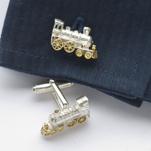 Train Cufflinks - men's accessories