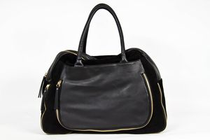 Leather Suede Brierley Traveller Handbag - bags