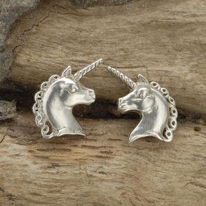 Unicorn Cufflinks In Sterling Silver