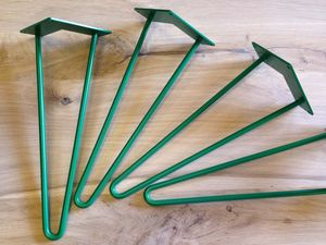 Pack Of Four Two Rod Green Hairpin Legs