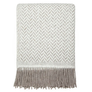 Herringbone Twill Natural Throw - throws, blankets & fabric