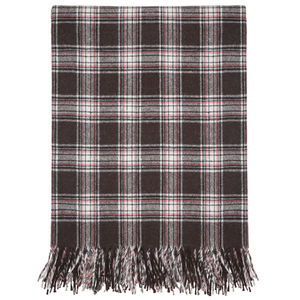 Thin Wool Check Throw - blankets & throws