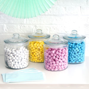 Glass Wedding Candy Jar