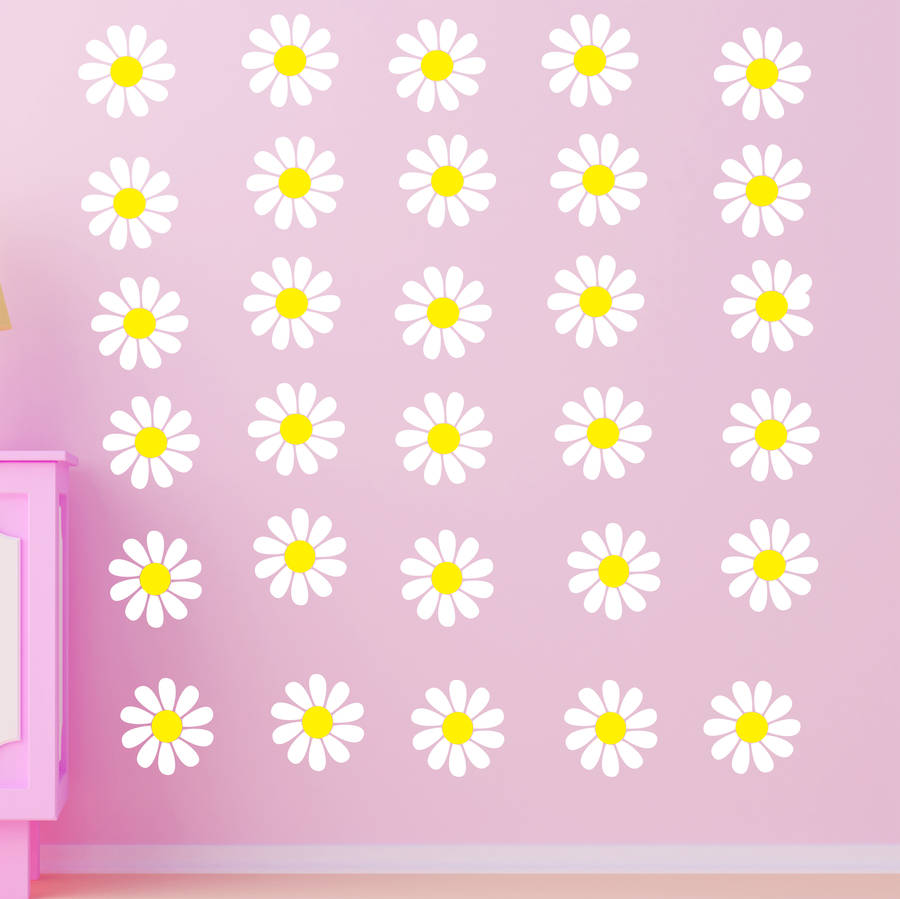 daisy wall stickers by parkins interiors