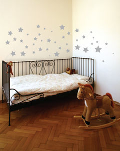 Silver Star Wall Stickers - wall stickers