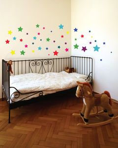 Colourful Stars Wall Stickers - decorative accessories