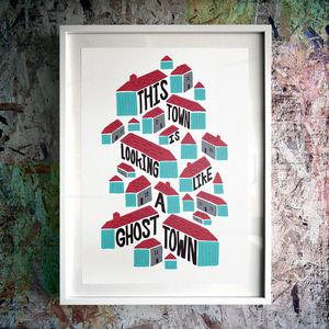 'Ghost Town' Fine Art Giclée Print - typography