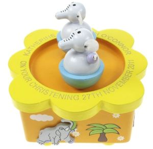 Elephant Personalised Music Box - children's room accessories