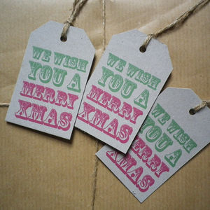Christmas We Wish You A Merry Xmas Gift Tags - cards & wrap
