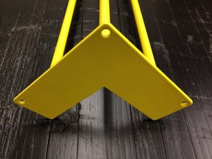 Pack Of Four Three Rod Yellow Hairpin Legs - kitchen