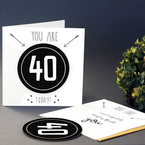 Birthday Greeting Card With Coaster - birthday cards