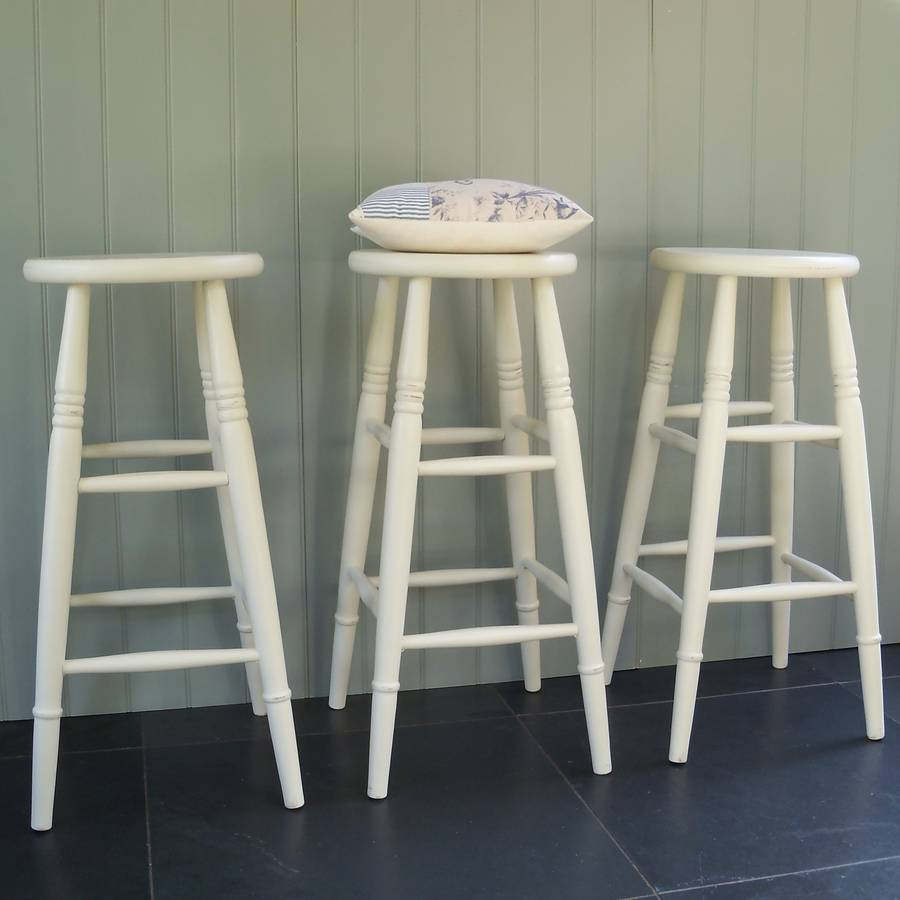 Custom Height Stools Hand Painted In Any Colour By Rectory