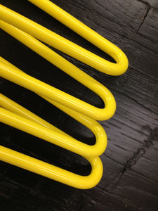 Pack Of Four Two Rod Yellow Hairpin Legs - kitchen