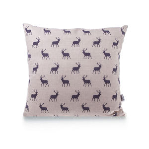 Grey Stag Linen Cushion