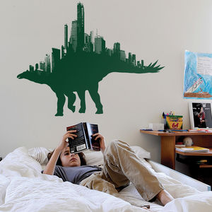 Citysaurs Dinosaur Wall Sticker By Threadless - home decorating