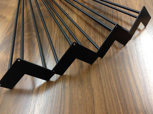 Pack Of Four Three Rod Black Hairpin Legs - living room