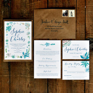 Botanical Beauty Wedding Invitation - thank you cards
