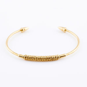 Gold Spearhead Bangle - fine jewellery