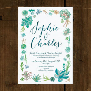 Botanical Beauty Wedding Invitation
