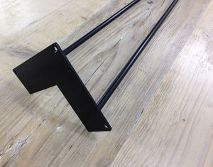 Pack Of Four Two Rod Black Hairpin Legs - furniture