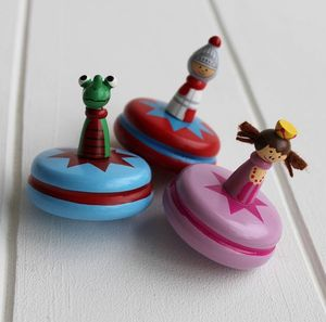 Mini Wooden Princess Spinning Top
