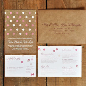 Geometric Confetti Wedding Invitation