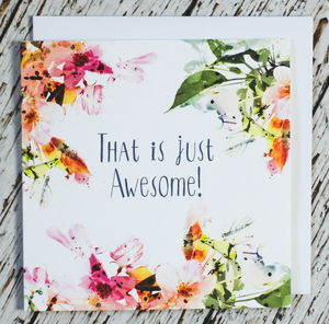 'That Is Just Awesome!' Congratulations Card - new job cards