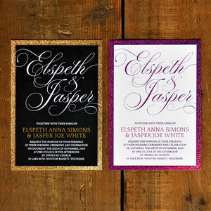 Fabulous Wedding Invitation And Save The Date - wedding stationery