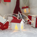 Christmas Houses Battery Light Chain