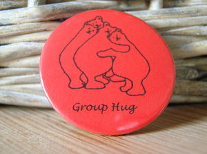 Group Bear Hug Badge - thank you cards