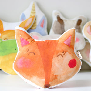 Fox Cushion Printed