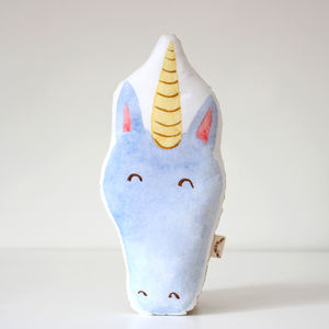 Unicorn Head Cushion - cushions
