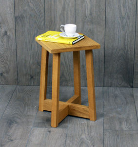Avenir Stool Or Side Table Solid Oak - side tables