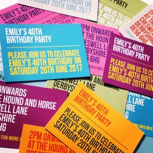 Personalised Contemporary Party Invitation