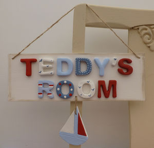 Personalised Nautical Room Sign - baby's room