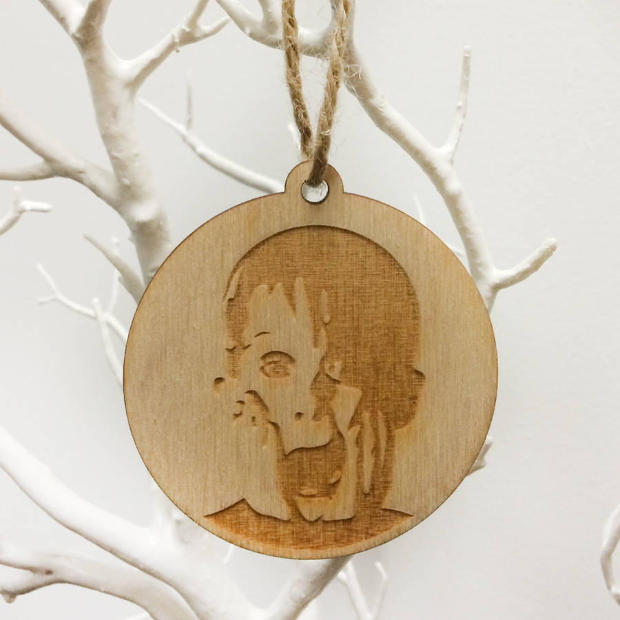 'filthy Animal' Wooden Tree Decoration By The Good Mood