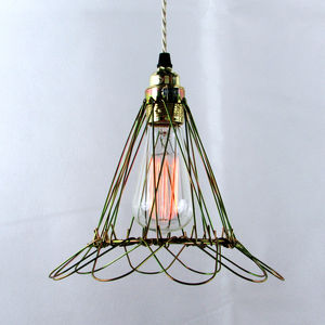 American Style Cage Pendant - statement lighting