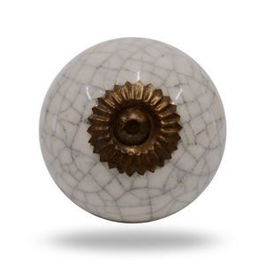 Ceramic Crackle Knob Antique Finish - door knobs & handles