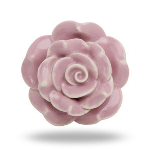 Large Ceramic Flower Knob Padstow