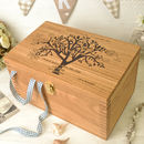 Personalised Oak Family Tree Christening Box