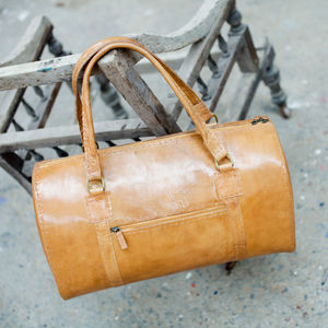 Savannah Leather Weekend Bag - bags & purses